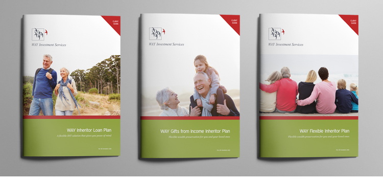 Way Group - Suite of brochure covers
